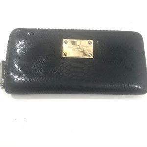 Michael Kors Black snakeskin wallet EUC